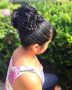 By @PrettyHStyle3029 #braids #peinado #trenza hairstyle #updo #longhair #hair