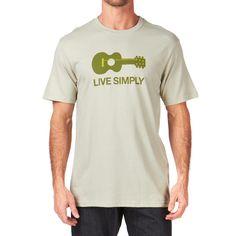Patagonia T-Shirts - Patagonia Live Simply Guitar T-Shirt - Stone