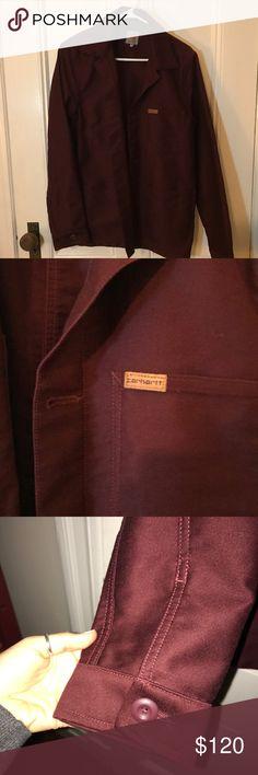 Carhartt WIP Maroon Jacket Maroon jacket with a slight and subtle shine. Unworn Carhartt Jackets & Coats