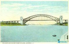 Astoria postcard post card - Hellgate Bridge, Astoria, NY