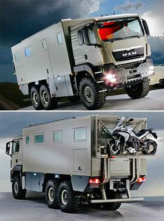 If money was no object in building your post apocalypse survival vehicle, you'd likely make something like Action Mobil's Global XRS 7200; an ultra-offroad RV that will carry you through <em>Mad Max</em> territory in comfort & style. This indestructible, made-to-order beast features a luxurious interior with Bose Sound and a built-in flatscreen as well as a hydraulic rear lift for your motorbike & rooftop solar panels for off-grid power.