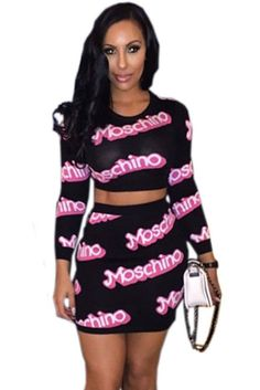 Jupe Definit Moschino Impression Manches Longues Set
