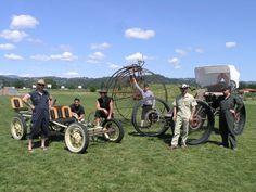 Members of FBUC (Fun Bike Unicorn Club) at Mini Maker Faire, Santa Rosa, 2010