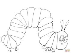 Very Hungry Caterpillar coloring page   SuperColoring.com
