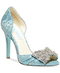 Blue by Betsey Johnson Gown Evening Pumps - Women - Macy's