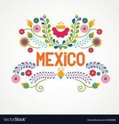 Mexican ethnicity clip art vector illustrations available to search from thousands of royalty free illustration producers. Mexican Colors, Mexican Style, Mexican Flowers, Mexican Embroidery, Folk Embroidery, Mexican Designs, Mexican American, Mexican Party, Thinking Day