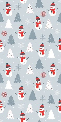 Christmas Phone Wallpaper, Holiday Wallpaper, Snowman Wallpaper, Cute Christmas Backgrounds, Winter Backgrounds, Winter Iphone Background, Winter Iphone Wallpaper, Christmas Walpaper, Christmas Pattern Background