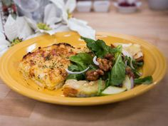 Home & Family - Recipes - Apple and Arugula Salad with Camembert Toast | Hallmark Channel