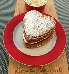 Victoria Sandwich is a British tea cake staple at #Downton Abbey. Why not try a heart shaped version for Valentine's Day?