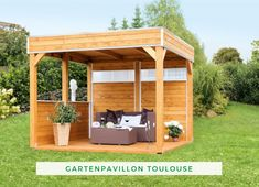 Pavilion garden: With our garden pavilion Toulouse you can create a small relaxation corner in your garden and spend cozy hours with your loved ones. Large Gazebo, Diy Gazebo, Hot Tub Gazebo, Wooden Gazebo, Backyard Gazebo, Cheap Pergola, Backyard Ideas, Outdoor Seating Areas, Garden Seating