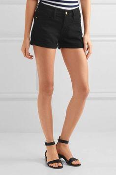 FRAME - Le Cutoff Denim Shorts - Black - 26