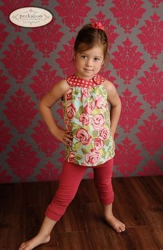 Loving this pattern! May want to lengthen into a dress for Miss Thang. CircleTop Shirt PDF Pattern by EverythingNiceSewing.