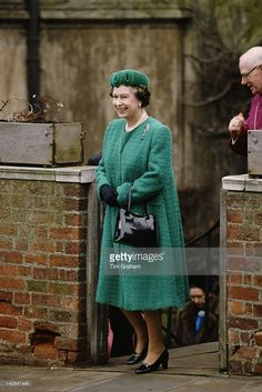 Queen Elizabeth II attends the Easter service at St George's Chapel, Windsor, March 1988.