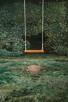 OMG!!!yatzer: This image (minus the swing), is actually a stitched rug, and it…