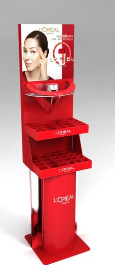 Pos Display, Store Displays, Display Design, Display Shelves, Point Of Sale, Point Of Purchase, Makeup Display, Cosmetic Display, Guerilla Marketing