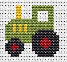 Easy Peasy Tractor Cross Stitch Kit: Cross stitch (Fat Cat, EP-TR)