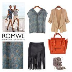 """Romwe top"" by mystyleguru-377 on Polyvore Top P, Romwe, V Neck, Polyvore, Fashion, Moda, Fashion Styles, Fashion Illustrations"