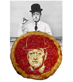 See remarkable food art edible Pizza Portraits of Uncle Sam, Rihanna, Beyonce, Mona Lisa, Marilyn Monroe, Frank Sinatra, Bruce Lee, The Pope and more.