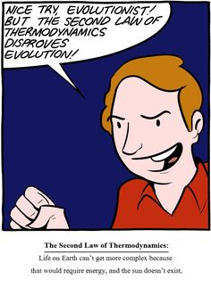 Saturday Morning Breakfast Cereal. Creationism and thermodynamics