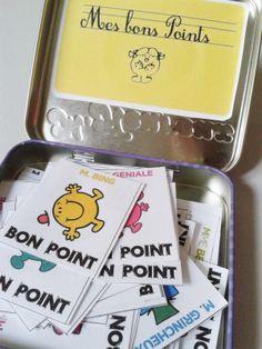 Bons points a imprimer monsieur et madame! Free printable for kids.