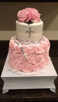Baptismal  or First Communion cake for girl