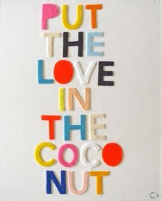 Put the love in the coconut
