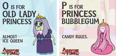 Adventure Time alphabet - Old Lady Princess, Princess Bubblegum