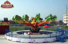 Rotating Bounce Rides - Thrill Amusement Park Rides For Sale - Sinorides Contact Email: sherry@sinorides.com
