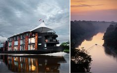 Amazon's Riverboat. Designed by architect Jordi Puig, Aria is more like a floating boutique hotel riverboat.