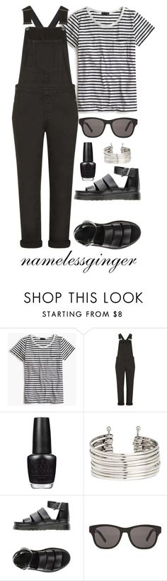 """untitled #256"" by namelessginger ❤ liked on Polyvore featuring J.Crew, Topshop, OPI, H&M, Dr. Martens and Christian Dior"