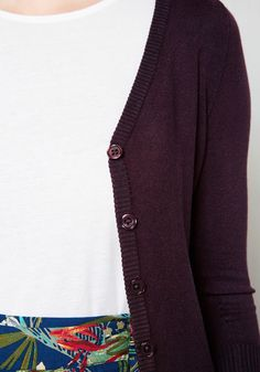 Charter School Cardigan in Plum. Show your style smarts in this versatile…