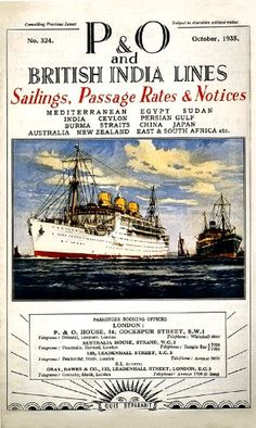 WONDERFUL A4 GLOSSY PRINT - 'P & O AND BRITISH INDIA LINES - 1935' (A4 PRINTS - VINTAGE TRANSPORT ADS / FLYERS) by Unknown http://www.amazon.co.uk/dp/B004OF3I2O/ref=cm_sw_r_pi_dp_FJCnvb1JVF42P