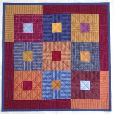 Stripes nine patch doll quilt by Lizzie Lenard (UK)