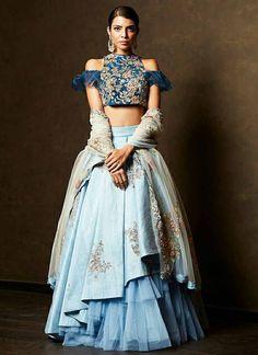 Lehenga for Women: Buy Lehenga Choli Online in India at Cheapest Price Lehenga Designs, Choli Designs, Blouse Designs, Blue Lehenga, Lehenga Style, Indian Designer Outfits, Designer Dresses, Indian Dresses, Indian Outfits