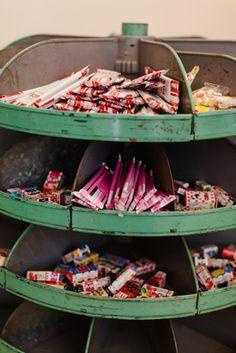 Vintage Candy Display