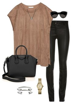 w/ black shoes ny outfit2 by daniellekenz on Polyvore featuring polyvore, fashion, style, Zara, Givenchy, Tory Burch, David Yurman, Kendra Scott, Yves Saint Laurent, women's clothing, women's fashion, women, female, woman, misses and juniors