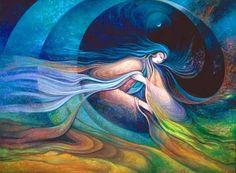 Sosteniendo el rezo: Mujer Luna  Mujer Luna: Medicina,  mujer Luna: Sanación,  compartiendo por la vida  la alegría y el amor.    Cada ciclo eres mi espejo,  cada ciclo cambio yo:  Hermanita, te agradezco  recordarme lo que soy.    Mujer Luna sosteniendo  con tu rezo el corazón  de toditas las mujeres  que están despertando hoy.    Mujer Luna sosteniendo   con tu rezo el corazón  de la Madrecita Tierra  que hoy nos da su bendición.