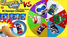 Juego de Ruleta Sorpresa de Grossery Gang 3 vs El Equipo Limpio The Clea...