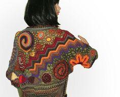 Freeform crochet shrug 1 by renatekirkpatrick, via Flickr