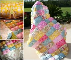 How To Make A Puff Quilt Tutorial