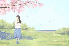 眼睛恢复正常 | 池袋西瓜 - 原创作品 - 涂鸦王国插画 Kawaii Anime Girl, Anime Art Girl, Manga Art, Girl Cartoon, Cartoon Art, Chinese Drawings, Illustration Girl, Cute Drawings, Cute Wallpapers
