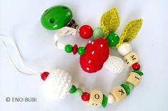 Pacifier Chain is the perfect gift for baby present and birth! All chains are made of non-toxic and approved beads.