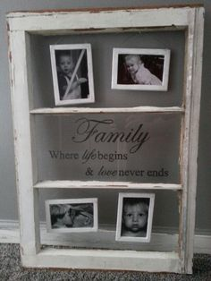 Old Window  picture frame my kids made for me this Christmas 2013..Its so Beautiful I just  LOVE it!!!