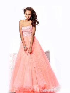 Wholesale Charming A-line Strapless Floor-length Beading Organza Military Ball Dresses$157.99