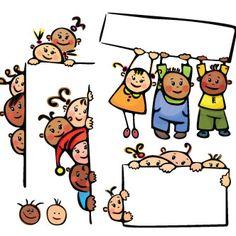 Niños con carteles