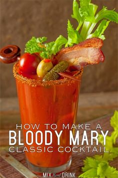 The Classic Bloody Mary This classic Bloody Mary recipe probably dates back to the Its so easy to make! Try making them for your next brunch party! The post The Classic Bloody Mary appeared first on Rezepte. Bloody Mary Cocktail Recipe, Bloody Mary Bar, Bloody Mary Recipes, Best Bloody Mary Recipe With Mix, Bloody Mary Recipe With Clamato Juice, Zing Zang Bloody Mary Recipe, Summer Drinks, Cocktail Drinks, Cocktail Recipes