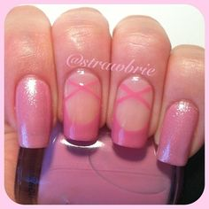 Ballerina nail design... Cute for little girls that love dance