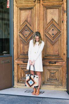 STRIPED SWING DRESS Advice from a Twenty Something waysify