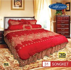 Sprei Set (King 180×200) motif Songket Premium Lembut. Takut tidak sesuai Ukuran (kekecilan/kebesaran) ??? Kami beri garansi 30 Hari. My Dream, Comforters, Blanket, Bedroom, Home, Creature Comforts, Quilts, Bed Room, Bedrooms