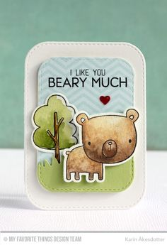 Forest Friends, Forest Friends Die-namics, Inside & Out Stitched Rounded Rectangle STAX Die-namics, Grassy Hills Die-namics - Karin Åkesdotter #mftstamps